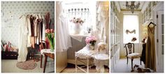 Dressing rooms με girly διάθεση Και ρομαντικό ύφος.