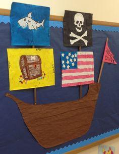 Summer bulletin board. Pirate ship
