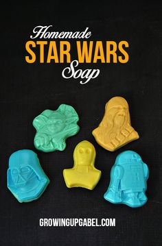 Know a Star Wars fan? Make this fun Star Wars craft - homemade soap! Easy to make with craft store supplies and 30 minutes, these DIY soaps are perfect for gifts or party favors!