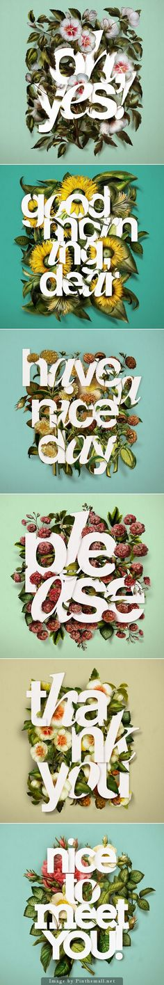 Typography with Floral Backgrounds