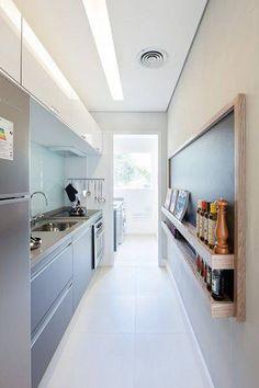 Voor een smalle keuken