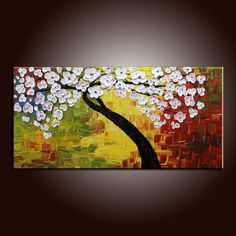 Flower Tree Painting Flower Painting 40 Original by artfan1981