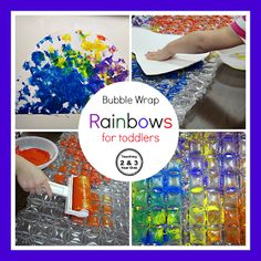 Teaching 2 and 3 Year Olds: Simple Bubble Wrap Rainbows Perfect for Toddlers!