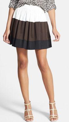 Color blocked kate spade skirt http://rstyle.me/n/mdt5hnyg6