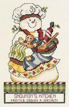 Snowmom's Kitchen - Cross Stitch Kit   I have this one in a Stoney Creek magazine.