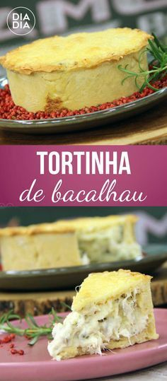 Tortinha de Bacalhau Quiches, Easy Cooking, Cooking Recipes, Cod Recipes, Savory Tart, Portuguese Recipes, Home Food, Fish And Seafood, Finger Foods