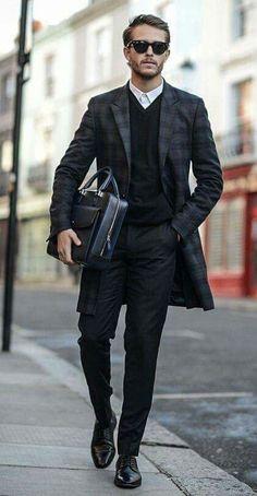 Black formal look #mensfashion #businessformal #suit