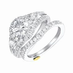 Chad Allison Diamond Engagement Ring available at Houston Jewelry!