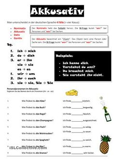 personalpronomen - DaF Arbeitsblätter Study German, Learn German, Learn English, German Grammar, German Words, Akkusativ Deutsch, Dativ Deutsch, German Resources
