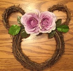 Your place to buy and sell all things handmade Purple Wreath, Floral Wreath, Discount Disney Gift Cards, Mini Disney, Disney Wreath, Disney Diy Crafts, Disney Valentines, Wedding Wreaths, Disney Home