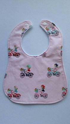 Check out this item in my Etsy shop https://www.etsy.com/au/listing/555622313/girls-riding-bikes-baby-bib-cotton-upper