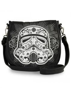 """Star Wars Storm Trooper"" Crossbody Bag by Loungefly (Black/White) #InkedShop #StormTrooper #crossbody #bag #StarWars #geekchic"