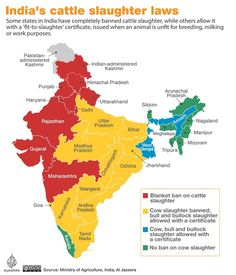 India suspends ban on trade of cattle for slaughter India World Map, India Map, India Travel, Gernal Knowledge, General Knowledge Facts, Historical Pictures, Historical Maps, Geography Map, Arunachal Pradesh