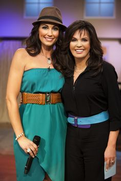 Country music artist Danielle Peck with Marie