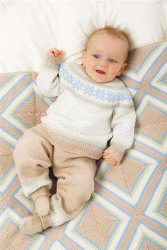 1113 Lanett Baby - tema 7 - Genser E - Bukse B, str 3 mnd til 2 år
