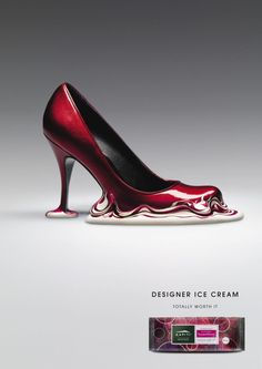 kaptiti: designer ice cream shoe.WOW, can't imagine wearing but really fun to look at.
