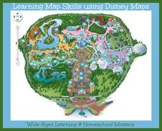 Teaching map skills using Disney maps