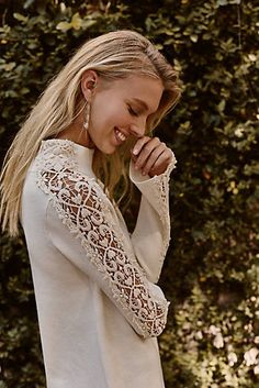 Laced Funnelneck Pullover