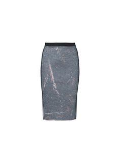 Walicov neoprene skirt in a marble print - # Q56584002 - By Malene Birger Autumn Winter 2014 - Women's fashion