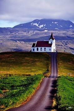 Beautiful church setting in Iceland~❥