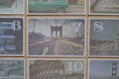Vintage Travel Postcard Table Numbers – By: Milk & Ice Cream