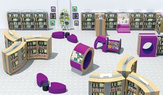 Our school library design gallery showcases a selection of school library interior design photos from a wide range of BookSpace school customers.