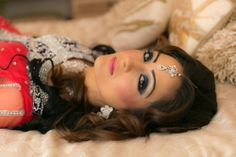 Asian wedding make-up: Arab inspired engagement look by Namkeen Hair and Beauty