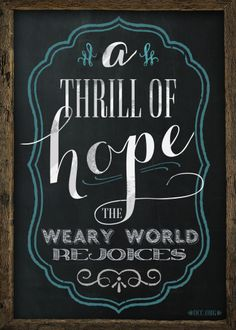 5x7 Printable for Christmas // a thrill of hope