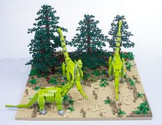 Lego Animals, Lego Jurassic World, Cool Lego Creations, Vand, Lego Models, Lego City, Legos, Diorama, Brick