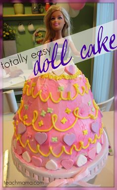 how to make a doll cake ( other sweet fairy party treats!)