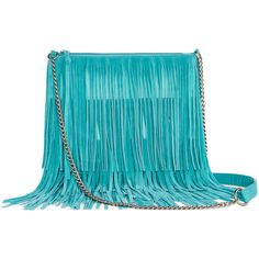 Arizona Medium Fringe Crossbody Bag ($28) ❤ liked on Polyvore featuring bags, handbags, shoulder bags, crossbody shoulder bags, blue fringe purse, zip purse, blue cross body purse and fringe handbags