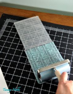 Inking embossing folders before putting through the BigShot...good idea!