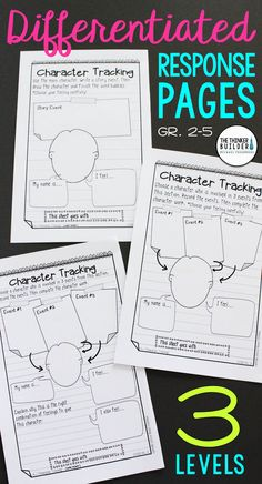 	Get ALL your students thinking deeply about their reading with these response pages, designed in an engaging notebook format and differentiated at three levels. This bundle includes tons of options for both literature and informational text. Common Core aligned. Perfect for guided reading, book clubs, research, and practicing key reading skills. (Gr 2-5) $