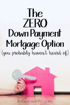 Oct 30, 2015 - The USDA offers a no down payment mortgage option you probably didn't know existed, and you don't have to be a first time home buyer to take advantage!