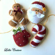 Felt Christmas Ornaments/Felt Christmas por ModernStyleHoliday