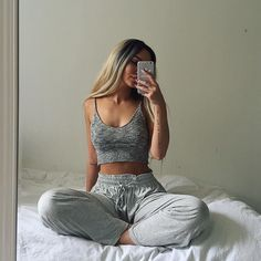 lounge wear Lounge Mesh bra set New Women Lingerie Lace Teddy Features Plunging Eyelash and Lazy Day Outfits, Chill Outfits, Mode Outfits, Casual Outfits, Summer Outfits, Fashion Outfits, Fashion News, Men's Fashion, Cute Lounge Outfits