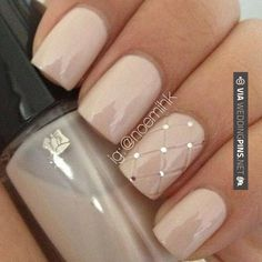 Image result for bridal nude nails 2017