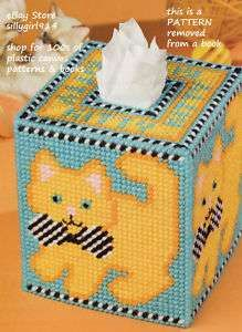 Plastic Canvas Patterns   TISSUE BOX COVERS IN PLASTIC CANVAS PATTERN LEAFLET