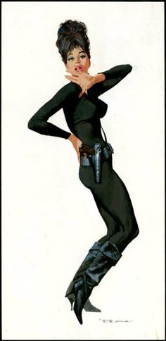 Robert McGinnis art for the Modesty Blaise movie. Great comic, great art, MEH movie.                                                                                                                                                      More