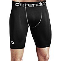 Defender Men's Cool Dry Compression Baselayer Shorts Pants Capri Tights * Details can be found by clicking on the image.