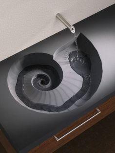 Arch2o-Ammonite washbasin -High Tech Design (3)