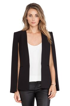 BCBGMAXAZRIA Upas Cape in Black,.,,,obsessed