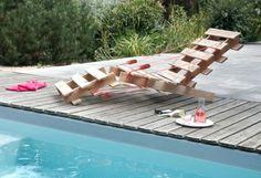 Le istruzioni su come costruire una chaise longue di design con solo 2 pallets 2