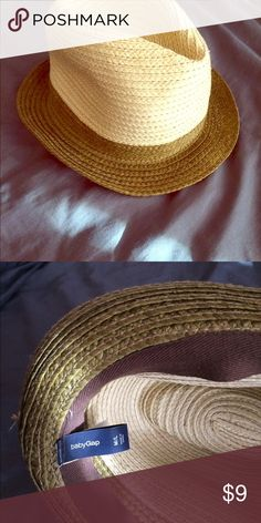 Baby Gap straw fedora So dapper for your little one, no rips, no tears. EUC, too adorable. GAP Accessories Hats