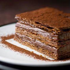 Me Encanta el Chocolate: MILHOJAS DE PURO CHOCOLATE CON DELICIOSO MOUSSE
