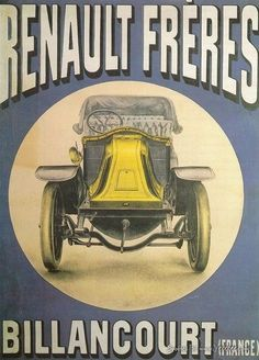 Vintage Car Advertisement Posters - Renault
