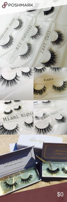 Real Mink fur popular affordable lashes! Why not add volume to your lashes! Real Mink fur Lashes that are affordable for anyone! Gorgeous magnetic box to protect your lashes. Pic a style that's right for you, pic two! One for a night time look and one for the daytime. Have fun shopping!! luxe lashes llc Makeup False Eyelashes
