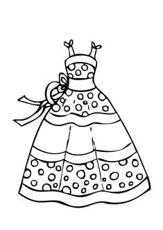 Creative Picture of Dress Coloring Pages . Dress Coloring Pages Dress Summer Polka Dot Coloring Page For Girls Printable Free Wedding Coloring Pages, Coloring Pages Winter, Coloring Sheets For Kids, Coloring Pages For Girls, Disney Coloring Pages, Coloring Pages To Print, Free Printable Coloring Pages, Free Coloring Pages, Coloring Books