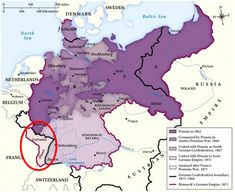 Germany takes Alsace Lorraine from France following the Franco-Prussian War. It was a humiliating defeat for France, with heavy reparations. However, France repaid these sooner than Germany had anticipated, and had a prosperous end of the century.