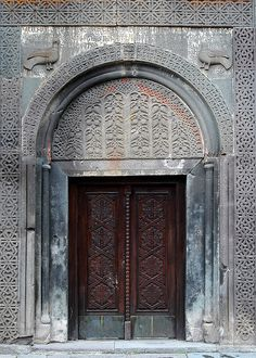 Entrance to Monastery Geghard, Armenia by Zinni (I'm off, back early July), via Flickr